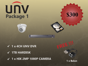 UNV CCTV Package
