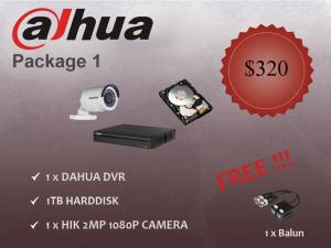 Dahua Outdoor Camera Package 1