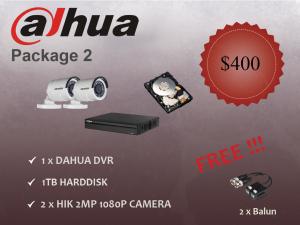 Dahua Outdoor Camera Package 2