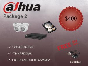 Dahua Indoor Dome Camera Package 2