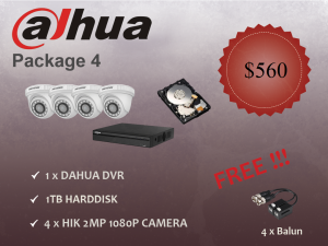 Dahua Indoor Dome Camera Package 4