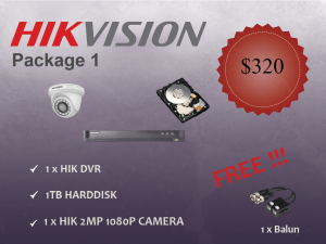 Hikvision Indoor Dome Camera Package 1