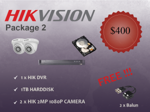 Hikvision Indoor Dome Camera Package 2