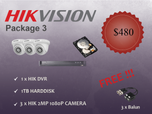 Hikvision Indoor Dome Camera Package 3