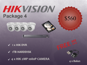 Hikvision Indoor Dome Camera Package 4