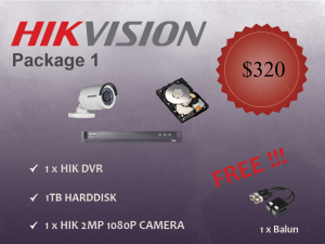 Hikvision Outdoor Camera Package 1