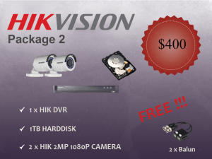 Hikvision Outdoor Camera Package 2