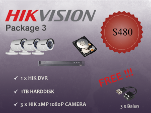Hikvision Outdoor Camera Package 3