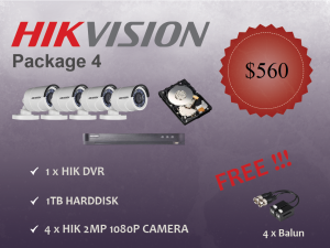 Hikvision Outdoor Camera Package 4