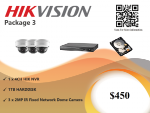 Hikvision IP Camera Package 3