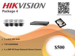 Hikvision IP Camera Package 4
